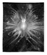 Cosmic Heart Of The Universe Bw Fleece Blanket