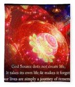 Cosmic Inspiration God Source 2 Fleece Blanket by Shawn Dall