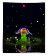 Cosmic Mushroom Fleece Blanket