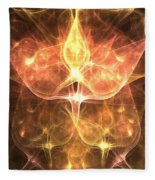 Cosmic Rosebuds Fleece Blanket