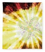 Cosmic Solar Flower Fern Flare 2 Fleece Blanket