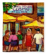 Cosmos  Fameux Restaurant On Sherbrooke Fleece Blanket