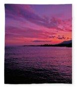 Costa Del Sol Sunset In Marbella Fleece Blanket