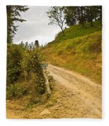 Costa Rica Path Fleece Blanket