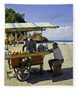 Costa Rica Vendor Fleece Blanket
