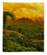 Costa Rica Volcano Fleece Blanket
