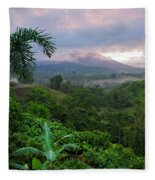 Costa Rica Volcano View Fleece Blanket