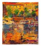 Cote D'azur Reflections Fleece Blanket