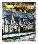 Cotswold Scene Fleece Blanket