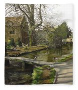 Cotswolds Scene. Fleece Blanket