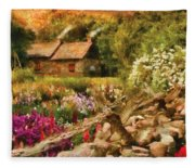 Cottage - There's No Place Like Home Fleece Blanket