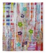 Cottage Flower Garden Fleece Blanket