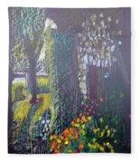 Cottage Flowers Fleece Blanket