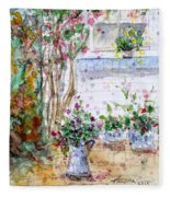 Cottage Garden Fleece Blanket