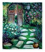Cottage Gates Fleece Blanket