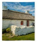 Cottage In Wales Fleece Blanket