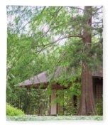 Cottage Orange Island  Louisiana  Fleece Blanket