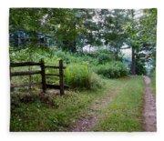 Cottage Path Fleece Blanket