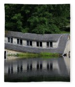 Cottage Sinking In The Rideau Canal Fleece Blanket