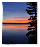 Cottage Sunset Fleece Blanket