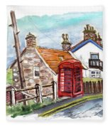 Cottages In Runswick Bay Fleece Blanket