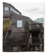 Cottages Of The Past Fleece Blanket