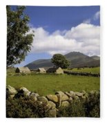 Cottages On A Farm Near The Mourne Fleece Blanket