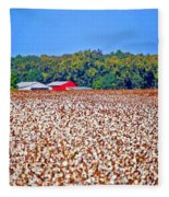 Cotton And The Red Barn Fleece Blanket