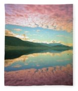 Cotton Candy Clouds At Skaha Lake Fleece Blanket