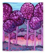 Cotton Candy Forest Fleece Blanket
