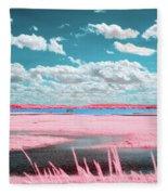 Cotton Candy Marsh Fleece Blanket