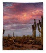 Cotton Candy Pink Sonoran Sunrise  Fleece Blanket
