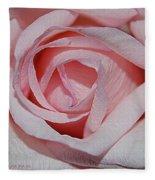 Cotton Candy Rose Fleece Blanket
