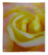 Cotton Candy Roses Fleece Blanket