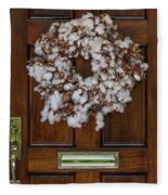 Cotton Wreath Fleece Blanket