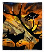 Cougar Elk   -015 Fleece Blanket