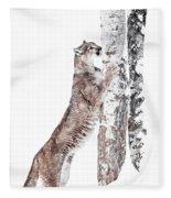 Cougars Tree Fleece Blanket
