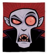 Count Dracula Fleece Blanket