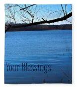 Count Your Blessings Fleece Blanket
