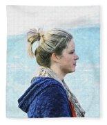 Country Angel - Paint Fx Fleece Blanket
