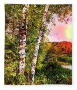 Country Birch Fleece Blanket