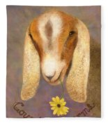 Country Charms Nubian Goat With Daisy Fleece Blanket