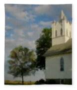 Country Chuch Fleece Blanket