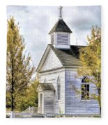 Country Church At Old World Wisconsin Fleece Blanket