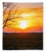 Country Easter Sunrise  Fleece Blanket