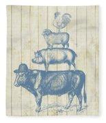 Country Farm Friends Fleece Blanket