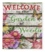 Country Garden Sign-e Fleece Blanket