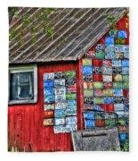 Country Graffiti Fleece Blanket