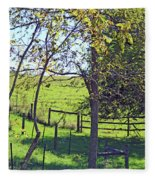 Country Green Fleece Blanket