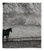 Country Horse Fleece Blanket